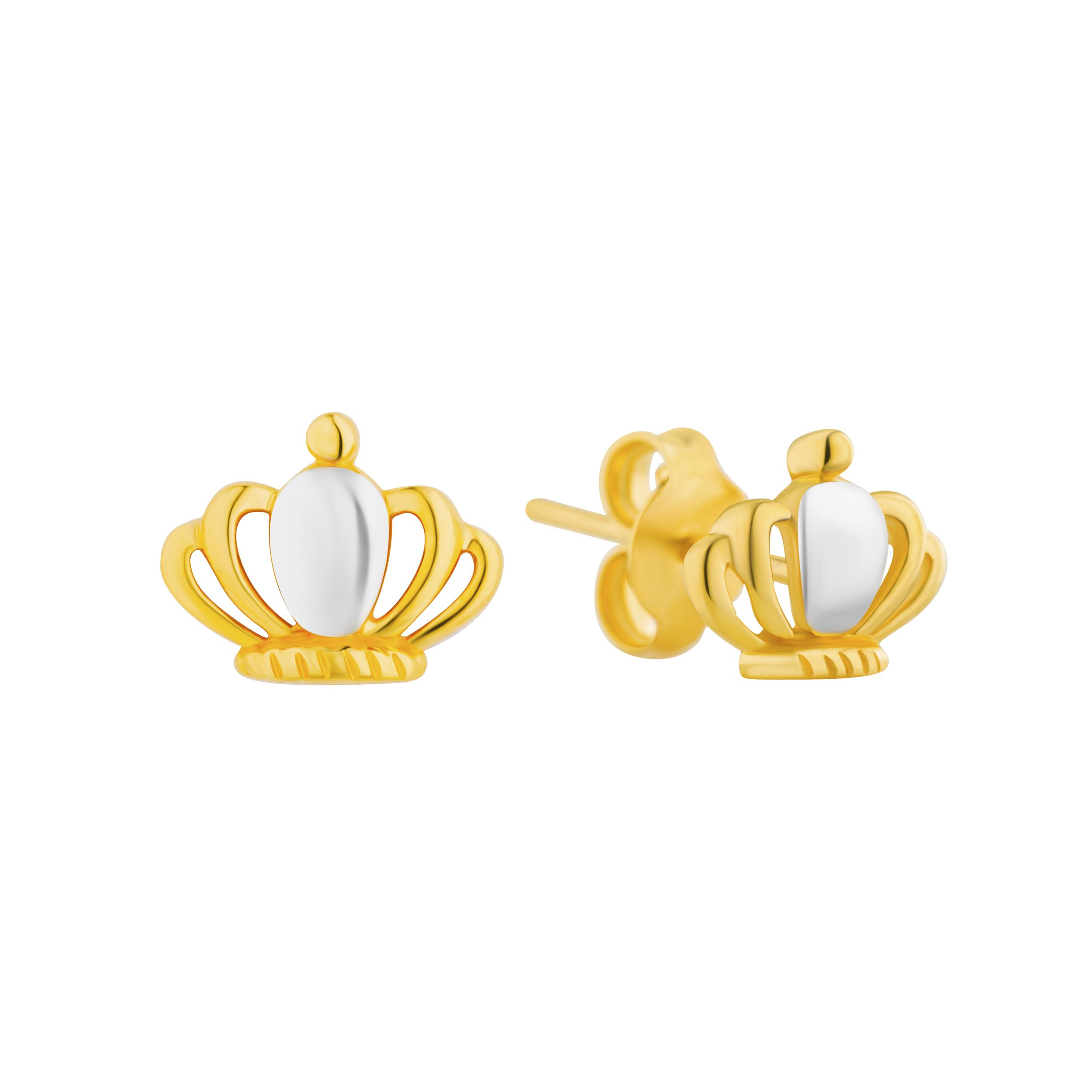 us of jewellery zirconia stud and earrings round icing cubic set