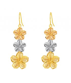 Trio Floral Drop Earrings